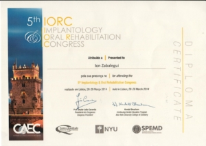 IORC IMPLANTOLOGY ORAL REHABILITATION CONGRESS LISBOA